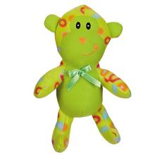 Zanies Fleece Cuddlers Dog Toy - Green Monkey
