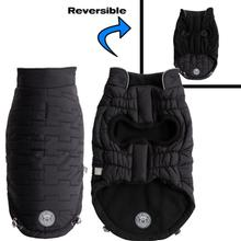GF Pet Reversible Chalet Dog Jacket - Black