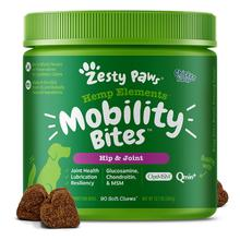 Zesty Paws Hemp Elements Plus Mobility Bites Dog Supplement - Chicken Flavor