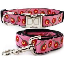 Cherries Dog Collar and Leash Set by Diva Dog