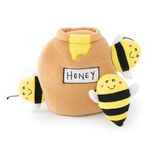 ZippyPaws Burrow Dog Toy - Bees with Honey Pot