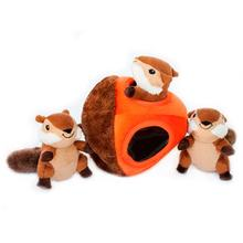 ZippyPaws Burrow Dog Toy - Chipmunk 'n Acorn