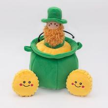 ZippyPaws Burrow Dog Toy - St. Patrick's Day Pot of Gold