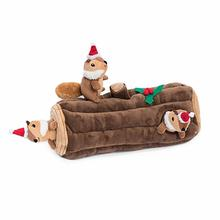 Holiday Burrow Dog Toy - Yule Log