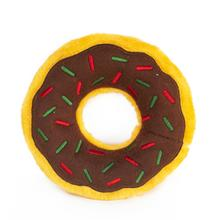 ZippyPaws Holiday Donutz Dog Toy - Gingerbread
