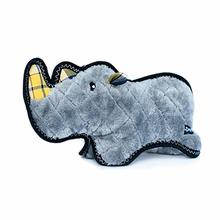 ZippyPaws Grunterz with Z-Stitch Dog Toy - Ronny the Black Rhino