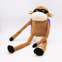 ZippyPaws Halloween Crinkle Monkey Dog Toy - SuperMonkey