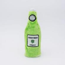 ZippyPaws Happy Hour Crusherz  Dog Toy - St. Patrick's Day Green Beer