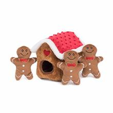 ZippyPaws Holiday Burrow Dog Toy - Gingerbread House