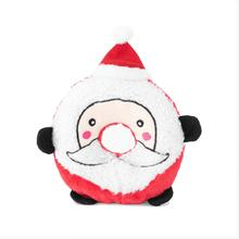 ZippyPaws Holiday Donutz Buddies Dog Toy - Santa