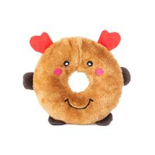 ZippyPaws Holiday Donutz Buddies Dog Toy - Reindeer