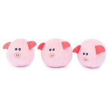 ZippyPaws Miniz Dog Toys - Bubble Pigs