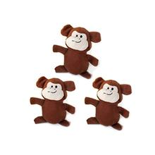 ZippyPaws Miniz Dog Toys - Monkeys