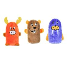 ZippyPaws Squeakie Buddie Dog Toys - Beaver, Moose, Walrus