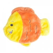 ZippyPaws Squeakie Flattiez Dog Toy - Goldie the Goldfish