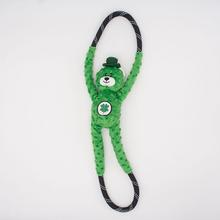 ZippyPaws St. Patrick's RopeTugz® Dog Toy - Lucky Bear