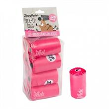 ZippyPaws Unscented Pick-Up Waste Bags - Pink/120