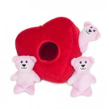 ZippyPaws Valentine Burrow Dog Toy - Heart 'n Bears