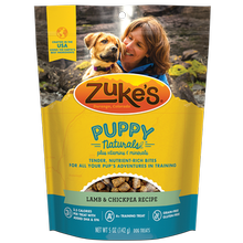Zukes Puppy Naturals Dog Treats - Lamb and Chickpea