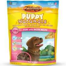 Zukes Puppy Naturals Dog Treats - Pork with Bacon
