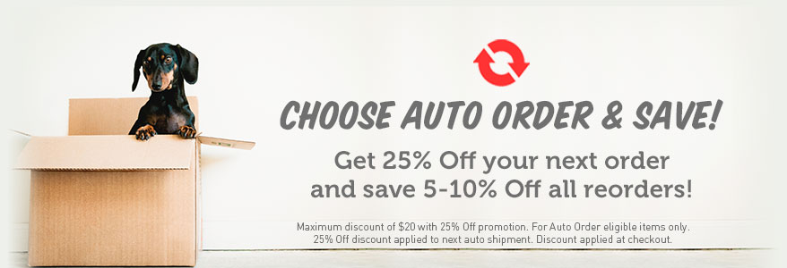 Auto Order and get 25% Off your first order!